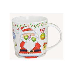 Mug de Noël Blanc Porcelaine
