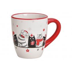 Mug de Noël Chat en Céramique
