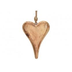 Coeur à Suspendre en Bois 15cm