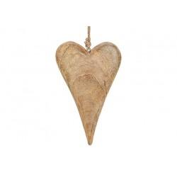 Coeur à Suspendre en Bois 26cm