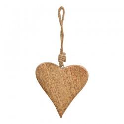 Coeur à Suspendre en Bois 9cm